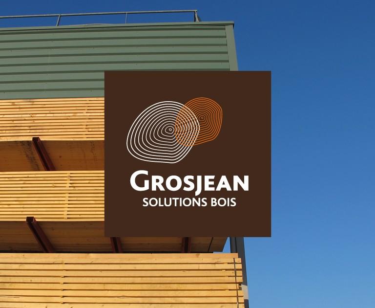 Agence le 6 - Univers visuel et identité corporate Grosjean Solutions Bois