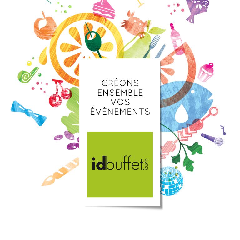 Logo idbuffet-identite visuelle-illustration-style visuel