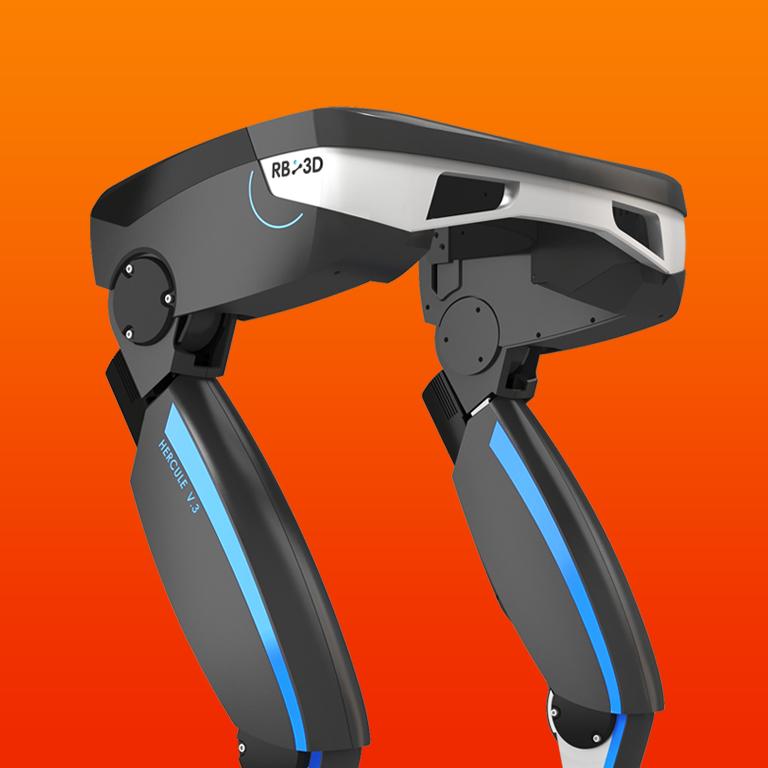 Identite visuelle industrie robotique exosquelette RB3D