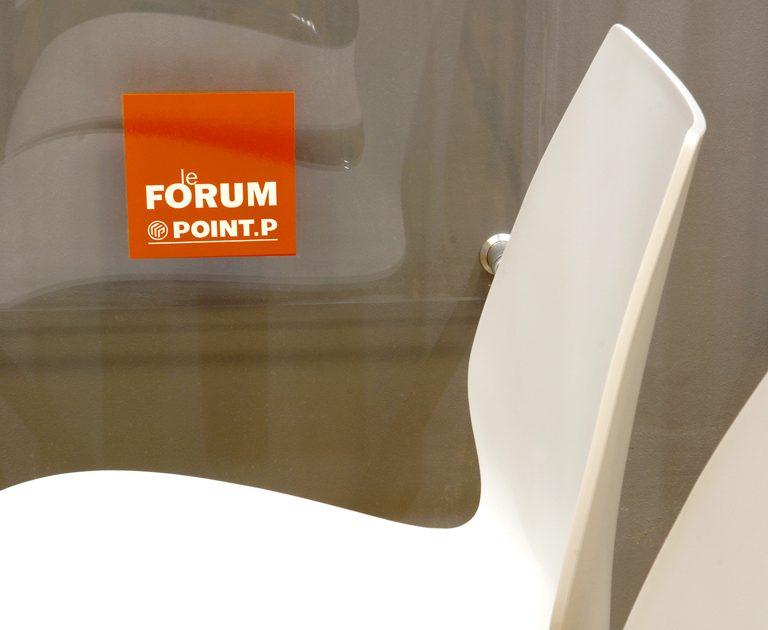 Forum Point P-Creation logotype-Conception signaletique site-Identite visuelle-Creation Agence le 6 Paris
