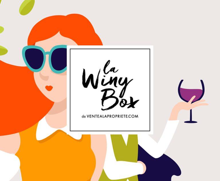 Agence le 6_ La WinyBox-Ventealapropriete.com-Logotype-e commerce-Key visuel-image de marque-Corporate branding-box abonnement-Agence Le 6 -design graphique Paris