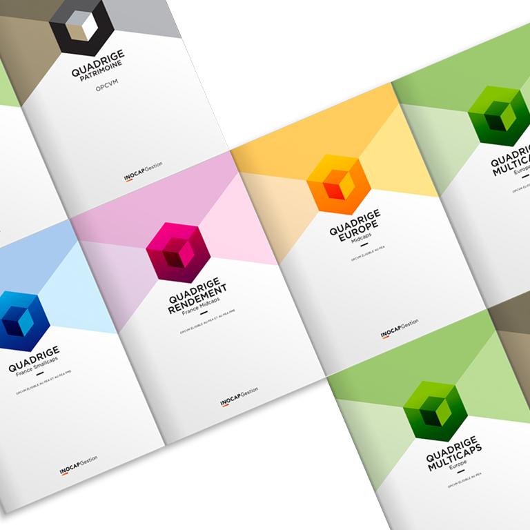 Agencele6.Edition Gamme Produit-Quadrige-INOCAP Gestion-Design Graphique Paris